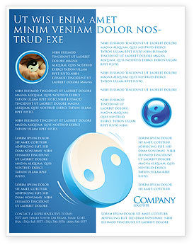 Blue Yin Yang Flyer Template