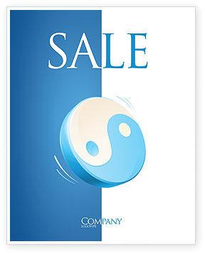 Religious/Spiritual: Modelo de Cartaz - yin yang azul #03073