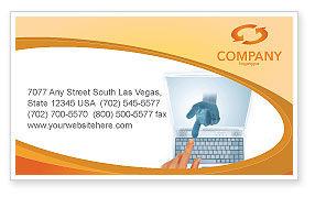 Technology, Science & Computers: Plantilla de tarjeta de visita - dispositivos portátiles #03075