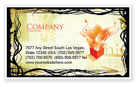 Art & Entertainment: Typography Business Card Template #03077