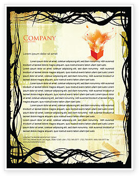 Art & Entertainment: Typography Letterhead Template #03077