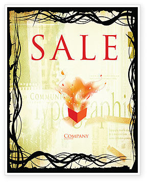 Typography Sale Poster Template, 03077, Art & Entertainment — PoweredTemplate.com