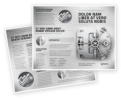 Technology, Science & Computers: Bank Safe Brochure Template #03078