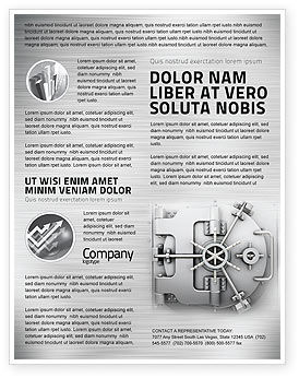 Technology, Science & Computers: Bank Safe Flyer Template #03078