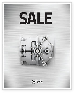 Technology, Science & Computers: Bank Safe Sale Poster Template #03078
