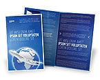 Cars/Transportation: Modèle de Brochure de voie aérienne #03079