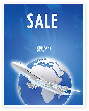 Airway Sale Poster Template, 03079, Cars/Transportation — PoweredTemplate.com