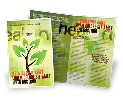 Green Health Brochure Template, 03083, Nature & Environment — PoweredTemplate.com