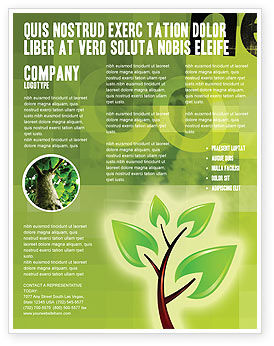 Green Health Flyer Template, 03083, Nature & Environment — PoweredTemplate.com