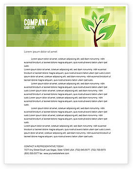 Nature & Environment: Green Health Letterhead Template #03083