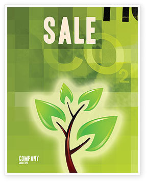 Nature & Environment: Green Health Sale Poster Template #03083