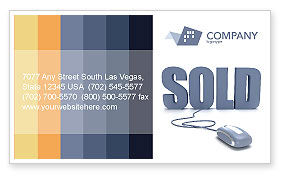 Technology, Science & Computers: Sold Business Card Template #03085