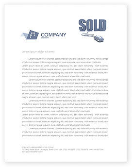 Sold Letterhead Template, 03085, Technology, Science & Computers — PoweredTemplate.com