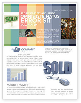 Sold Newsletter Template, 03085, Technology, Science & Computers — PoweredTemplate.com