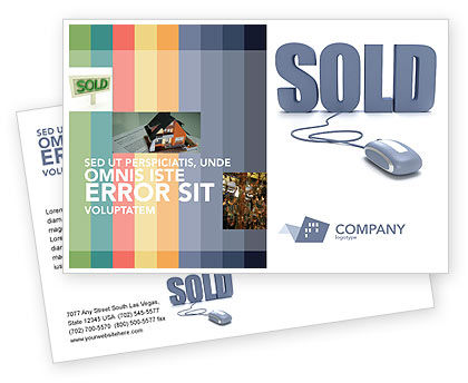 Sold Postcard Template