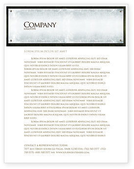 Steel Board Letterhead Template, 03088, Abstract/Textures — PoweredTemplate.com