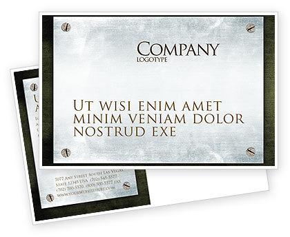 Steel Board Postcard Template, 03088, Abstract/Textures — PoweredTemplate.com