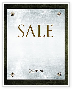 Steel Board Sale Poster Template, 03088, Abstract/Textures — PoweredTemplate.com