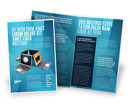 Technology, Science & Computers: Long Distance Team Work Brochure Template #03089