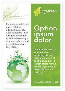 Nature & Environment: Green Environment Ad Template #03091