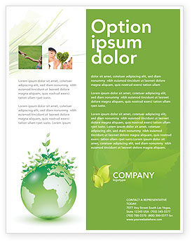 Green Environment Flyer Template, 03091, Nature & Environment — PoweredTemplate.com