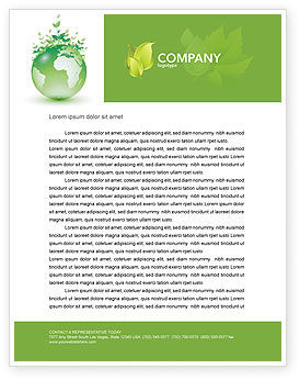 Green Environment Letterhead Template