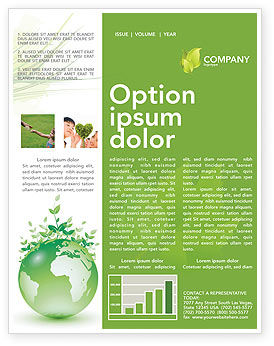 Green Environment Newsletter Template, 03091, Nature & Environment — PoweredTemplate.com