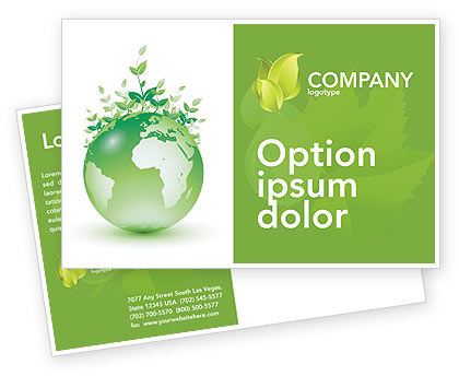 Nature & Environment: Green Environment Postcard Template #03091