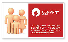 Consulting: Family Care Business Card Template #03094