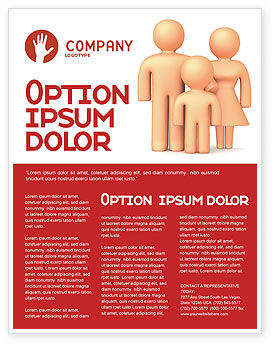 Family Care Flyer Template, 03094, Consulting — PoweredTemplate.com