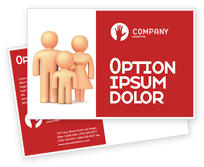 Consulting: Family Care Postcard Template #03094