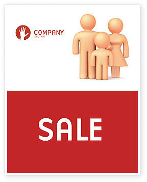 Family Care Sale Poster Template, 03094, Consulting — PoweredTemplate.com