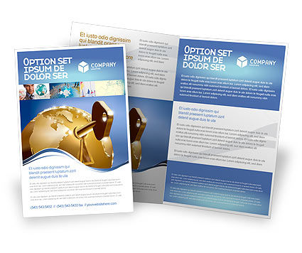 Global Keyhole Brochure Template, 03095, Global — PoweredTemplate.com