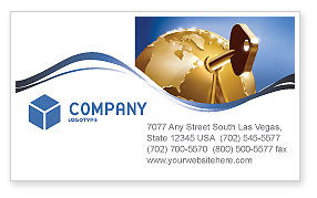 Global: Global Keyhole Business Card Template #03095