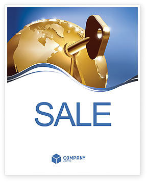 Global Keyhole Sale Poster Template, 03095, Global — PoweredTemplate.com