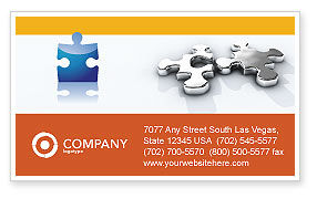 Steel Puzzle Business Card Template