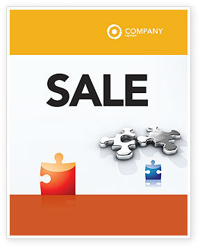 Steel Puzzle Sale Poster Template, 03097, Business Concepts — PoweredTemplate.com