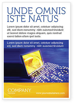 Globe Netto Advertentie Template, 03101, Technology, Science & Computers — PoweredTemplate.com