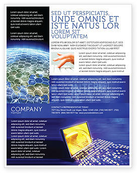 Technology, Science & Computers: Globe Net Flyer Template #03101