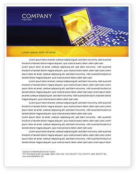 Technology, Science & Computers: Globe Net Letterhead Template #03101