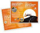 Cars/Transportation: Plantilla de folleto - trabajo en la carretera #03104
