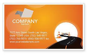 Cars/Transportation: Wegwerkzaamheden Visitekaartje Template #03104