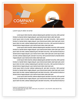 Cars/Transportation: Road Work Letterhead Template #03104