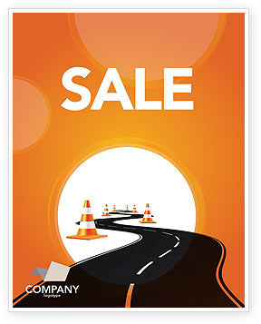 Cars/Transportation: Road Work Sale Poster Template #03104