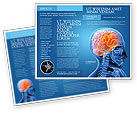 Medical: Brain In Skull Brochure Template #03110