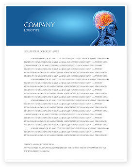 Brain In Skull Letterhead Template
