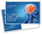 Medical: Brain In Skull Postcard Template #03110