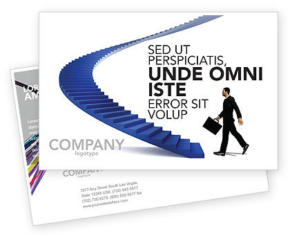 Business Concepts: Career Rising Postcard Template #03112