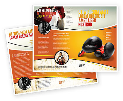 Sports: Boxing Gloves Brochure Template #03113