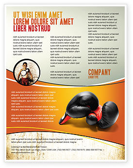 Sports: Boxing Gloves Flyer Template #03113
